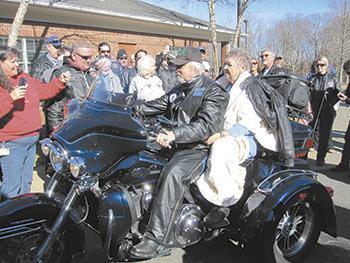 Bikers join to grant wish