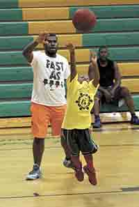Annual Basketball Camp is all for the kids...