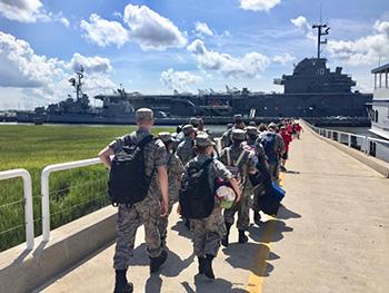 Local Civil Air Patrol cadets spend night aboard historic USS Yorktown