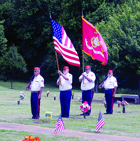 Members of the NC Foothill Detachment, Marine Corp League 1162