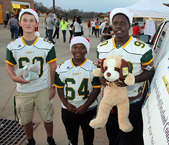 CREST FOOTBALL TOY DRIVE CONTINUES!