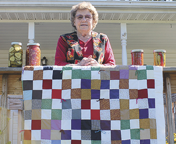 Doris Hicks beat cancer and is quilting and canning up a storm