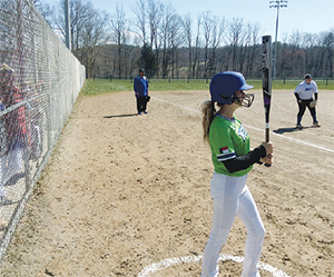Cleveland Community College's Yetis Softball team in action at Surry Community  College