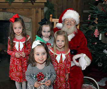 Visiting Santa at the Phifer Cabin