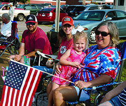 Andi Blake White age 2 and her grandmother Cindy Blake enjoyed the parade and patriotic programs