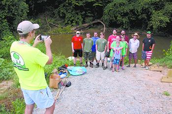 Volunteers clean up First Broad River