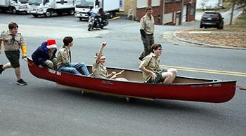 'Floating down Lafayette Street'...